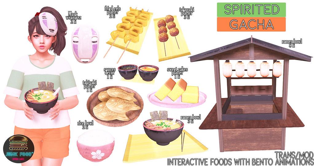 Junk Food - Spirited Gacha Ad
