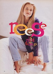 Reese Witherspoon shot by Arthur Meehan for Sassy 1994