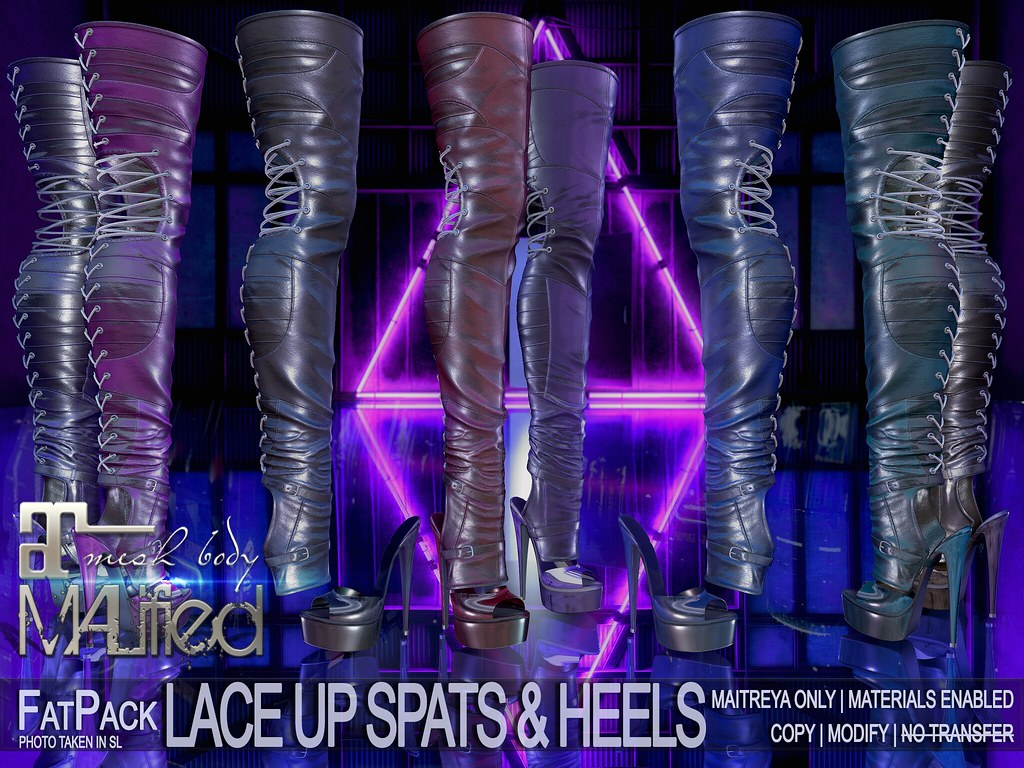MALified – Lace-Up Spats & Heels – FatPack