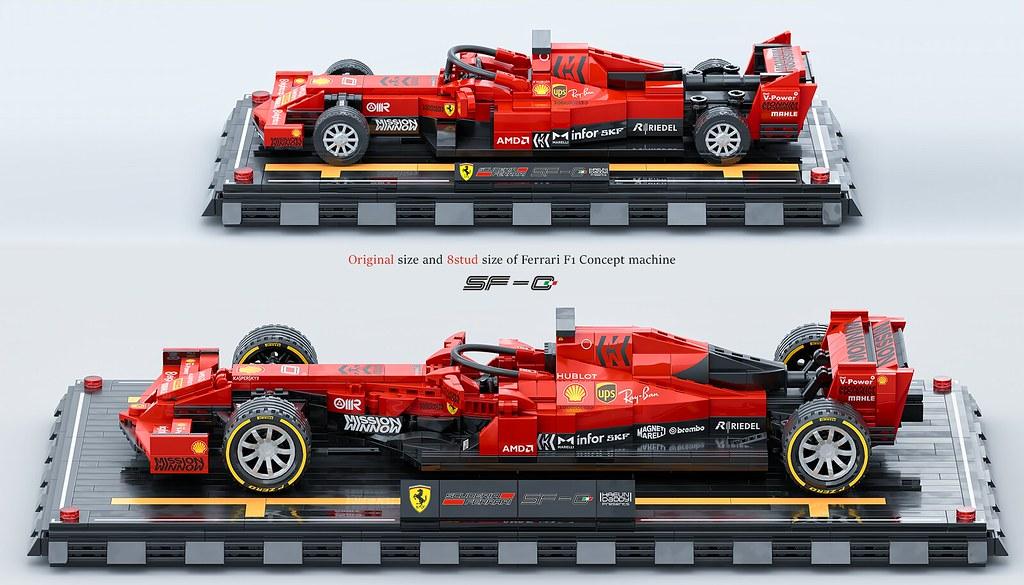 2 Size of LEGO Ferrari F1 Concept Machine SF-0