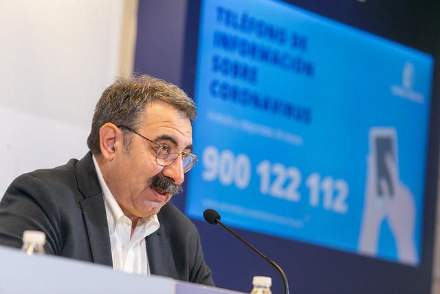El consejero de Sanidad informa sobre el primer caso de contagio por coronavirus en Castilla-La Mancha