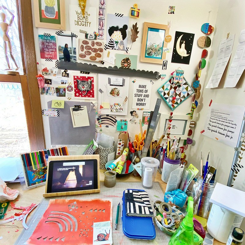 Work table in my studio