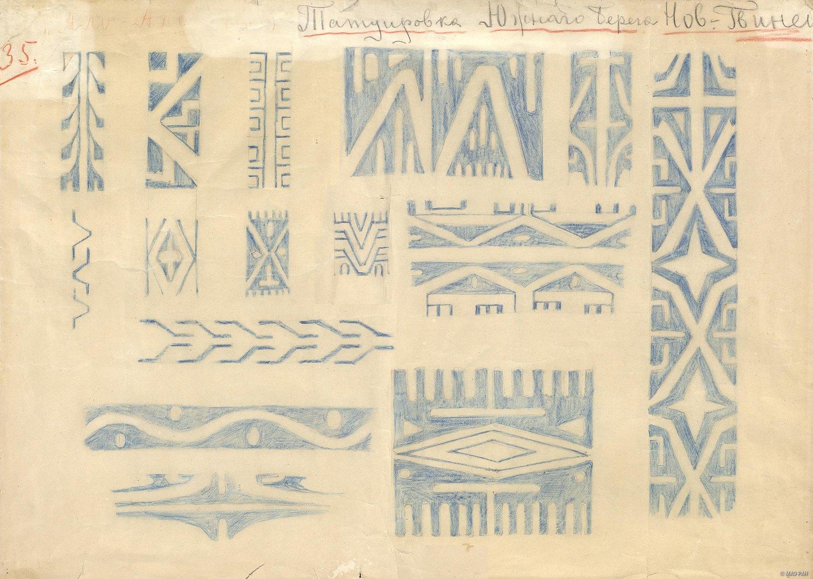 1880-е. Татуировка Южного берега Новой Гвинеи