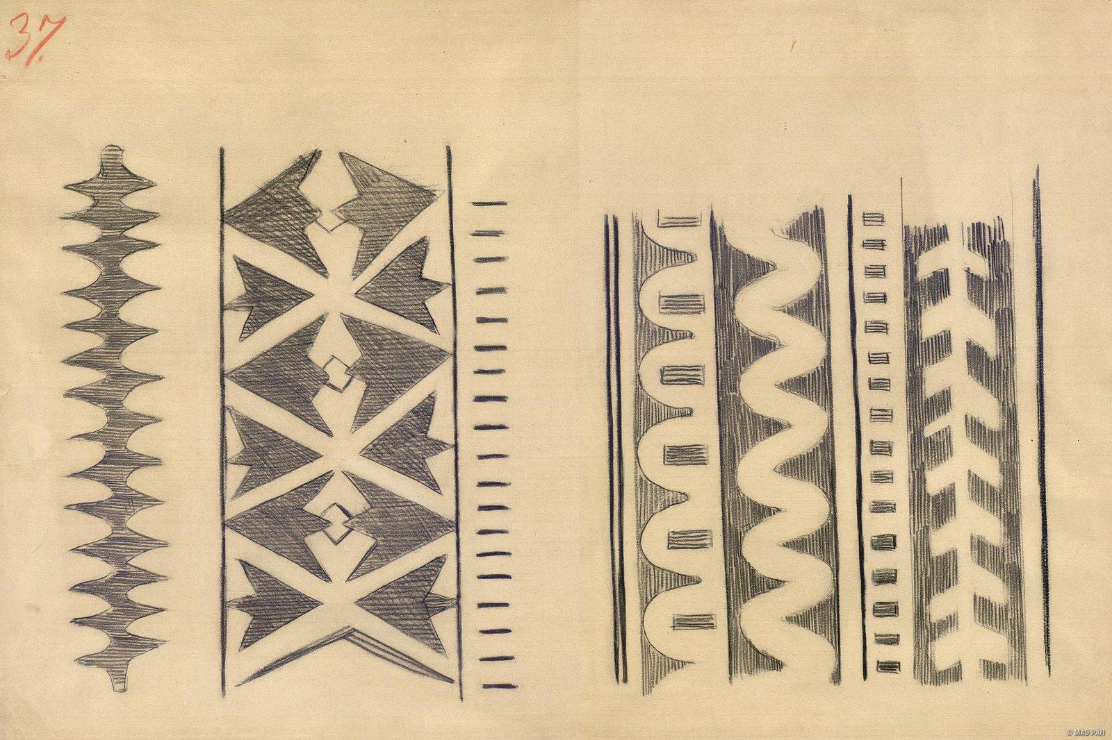 1880-е. Образцы орнаментов папуасов берега Маклая. Папуасы Новой Гвинеи (2)