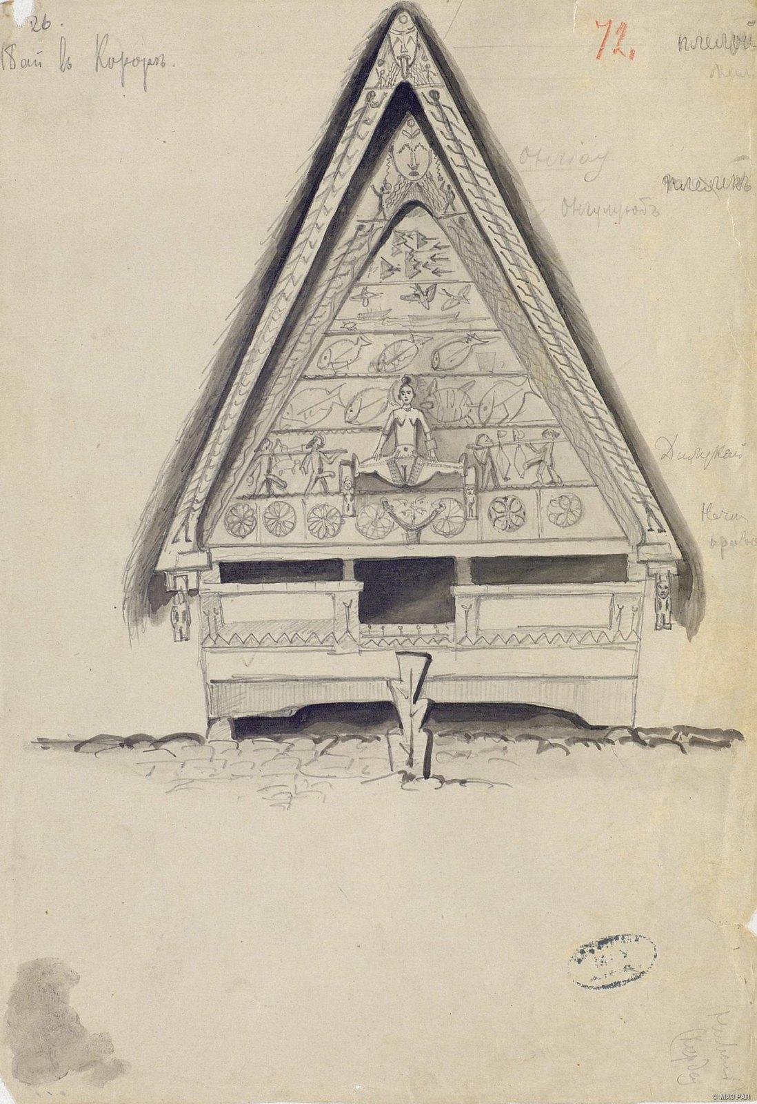1876-1877. Пай в деревне Корор. Микронезийцы