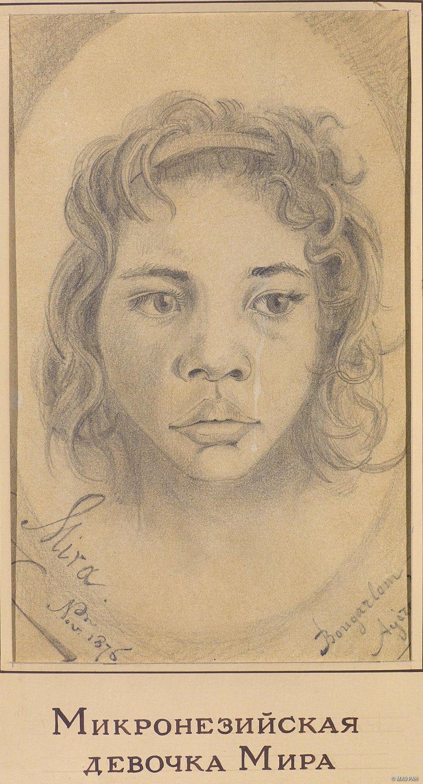 1876. Микронезийская девочка Мира. Микронезийцы, ноябрь