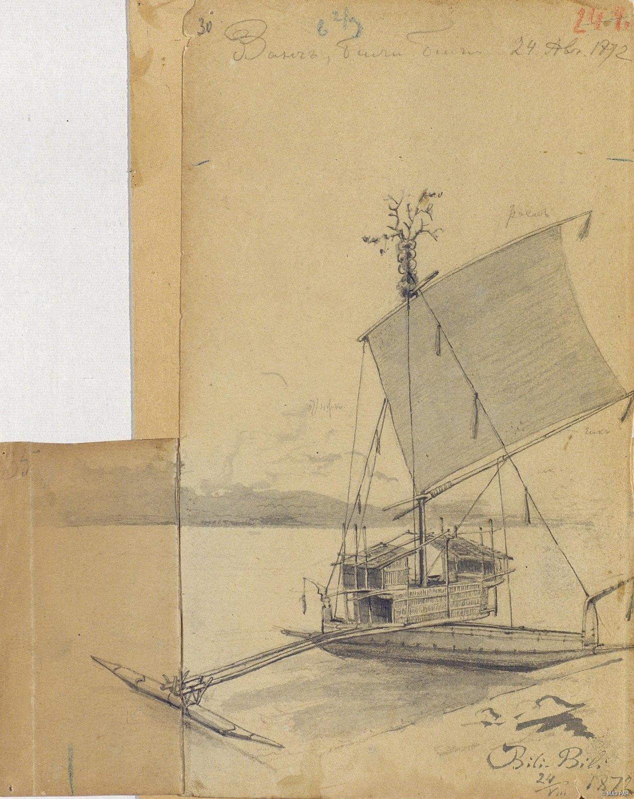 1872. Лодка Ванг, Били-Били, 24 авг.