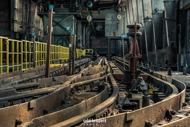 Schienen Wagenumlauf