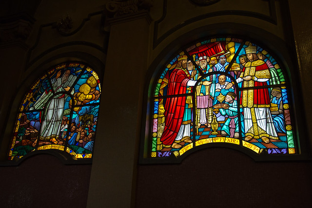 Stained glass windows in Trinity (Selassie) Cathedral, Addis Ababa, Ethiopia