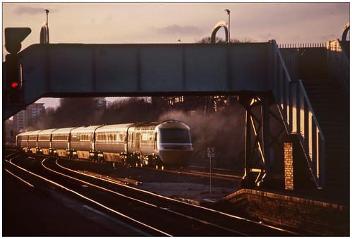 hst intercity west kingsnorton overbridge winter