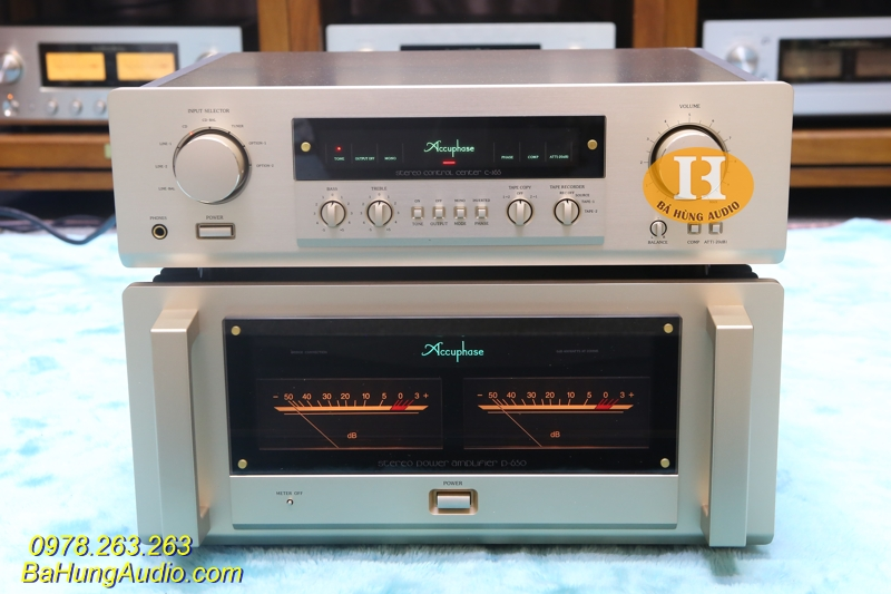 Pre Pow Accuphase C265 P650