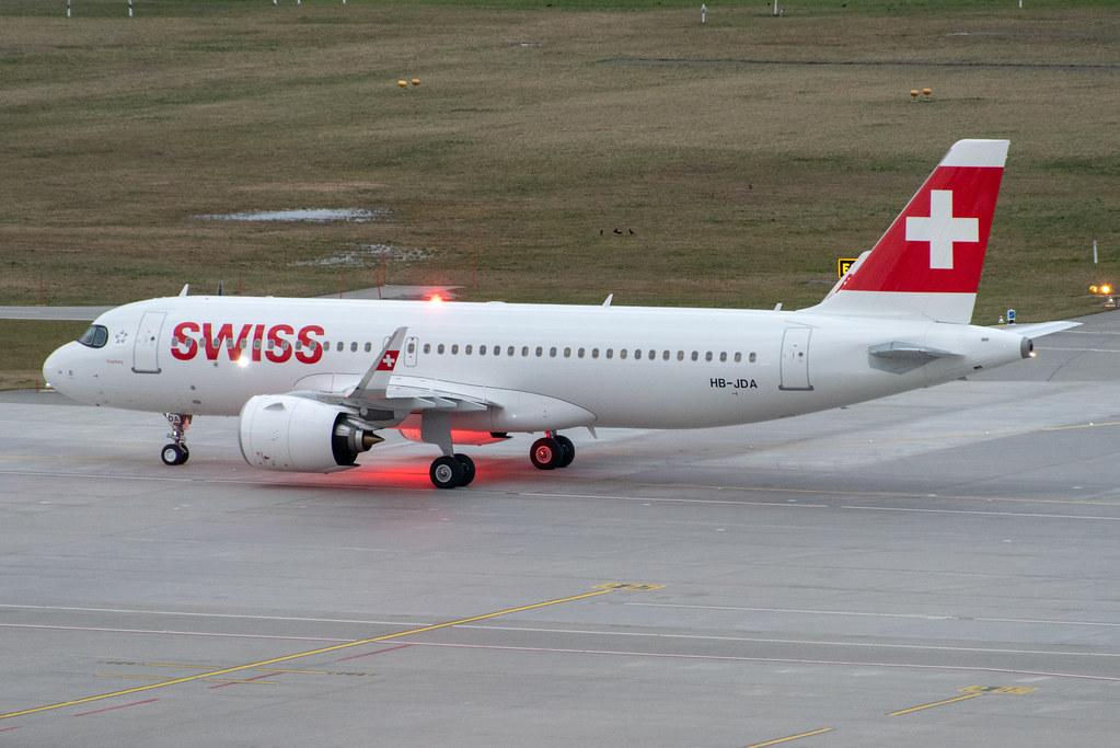 Swiss Airbus A320-271N; HB-JDA@ZRH;29.02.2020