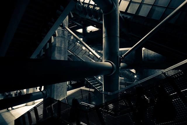 Bladerunner at the station. London tube.