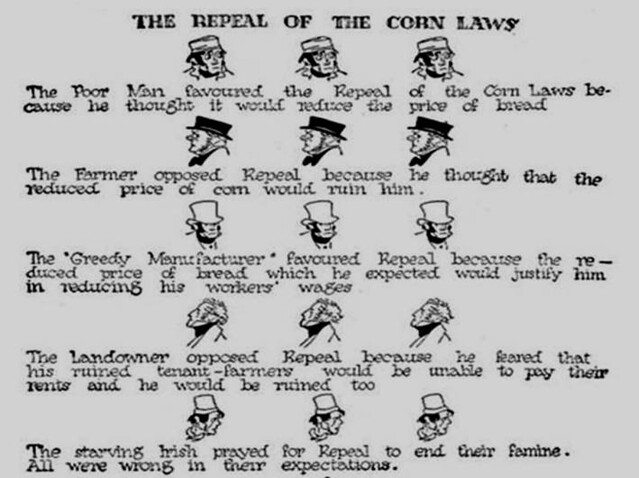 Pie de l'abrogation du Corn Laws