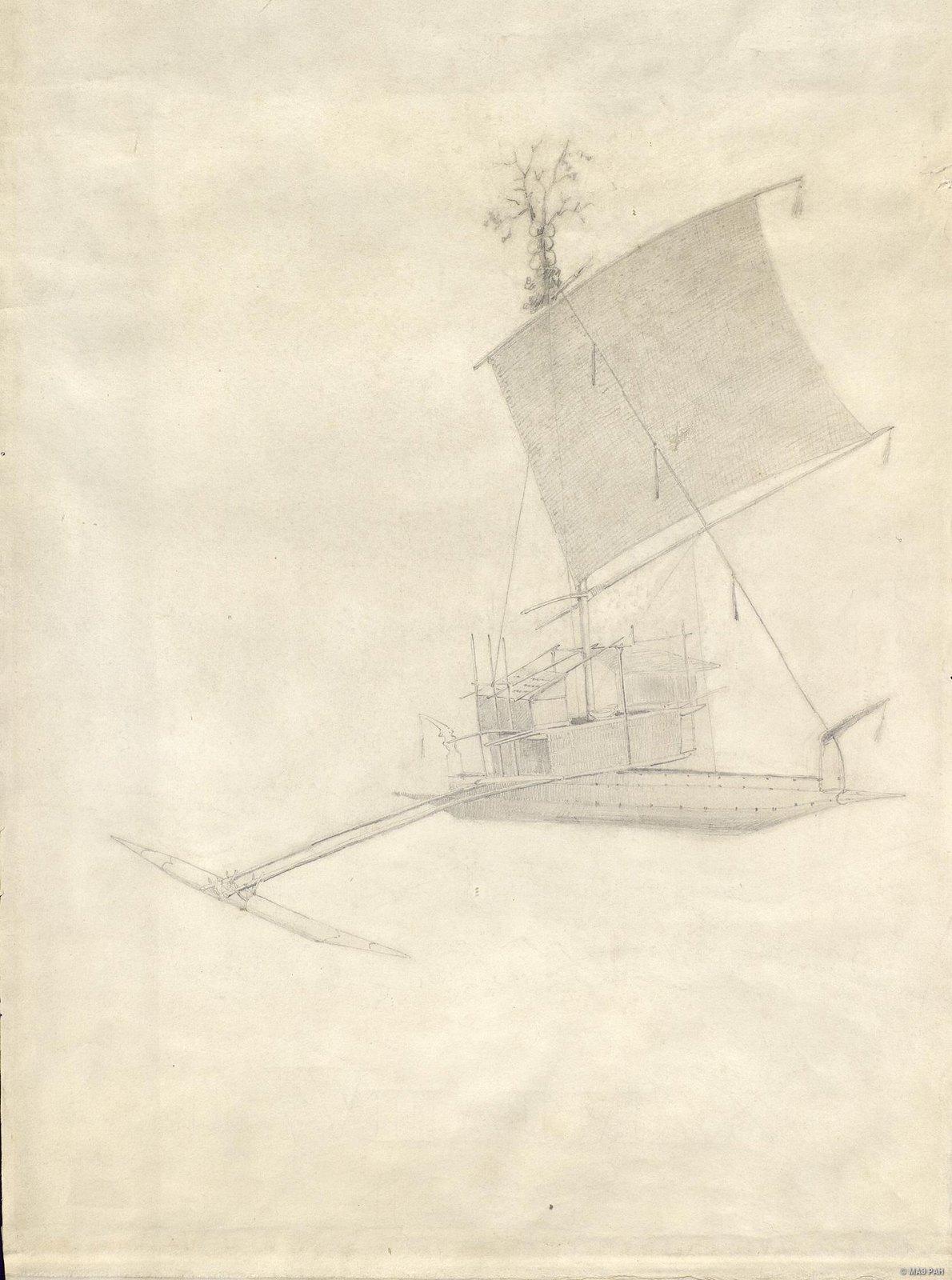 1880-е. Парусная лодка Ванг. Папуасы Новой Гвинеи (2)