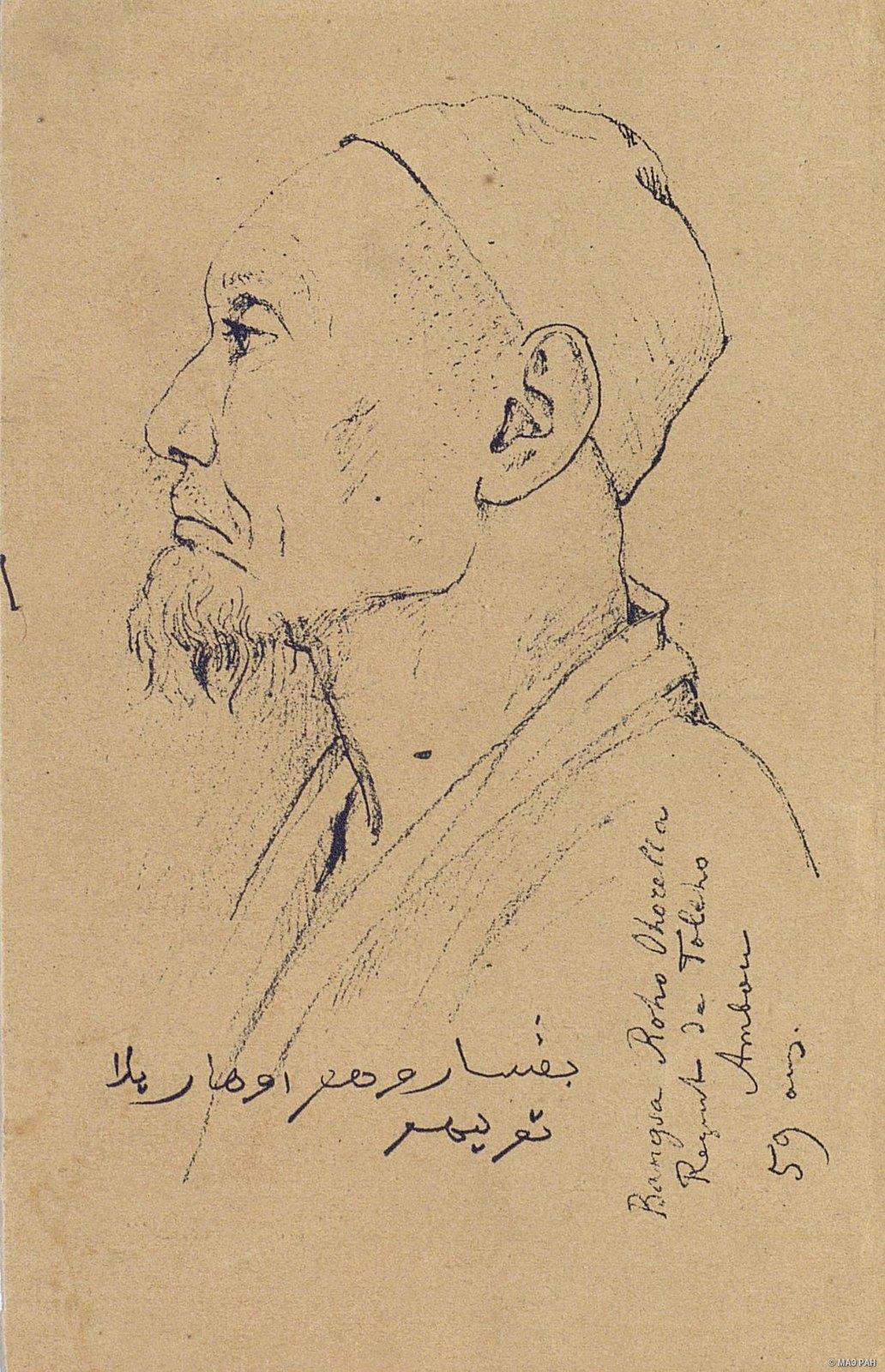 1873-1874. Бангса Рохо Охорелла, 59 лет, правитель деревни Толехо. Голландская Ост-Индия