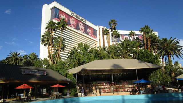 Nevada - Las Vegas: The MIRAGE - home of  Love, a Cirque du Soleil theatrical production involving remixes of The Beatles.