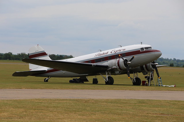 2019-06-05; 0419. Douglas C-47B Skytrain, N103NA, 'Flabob Express'. Daks over Normandy, Duxford.