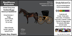 Elite Equestrian's Animesh RealHorseRideable Rideable - American Saddlebred with 1870's Goddard Buggy