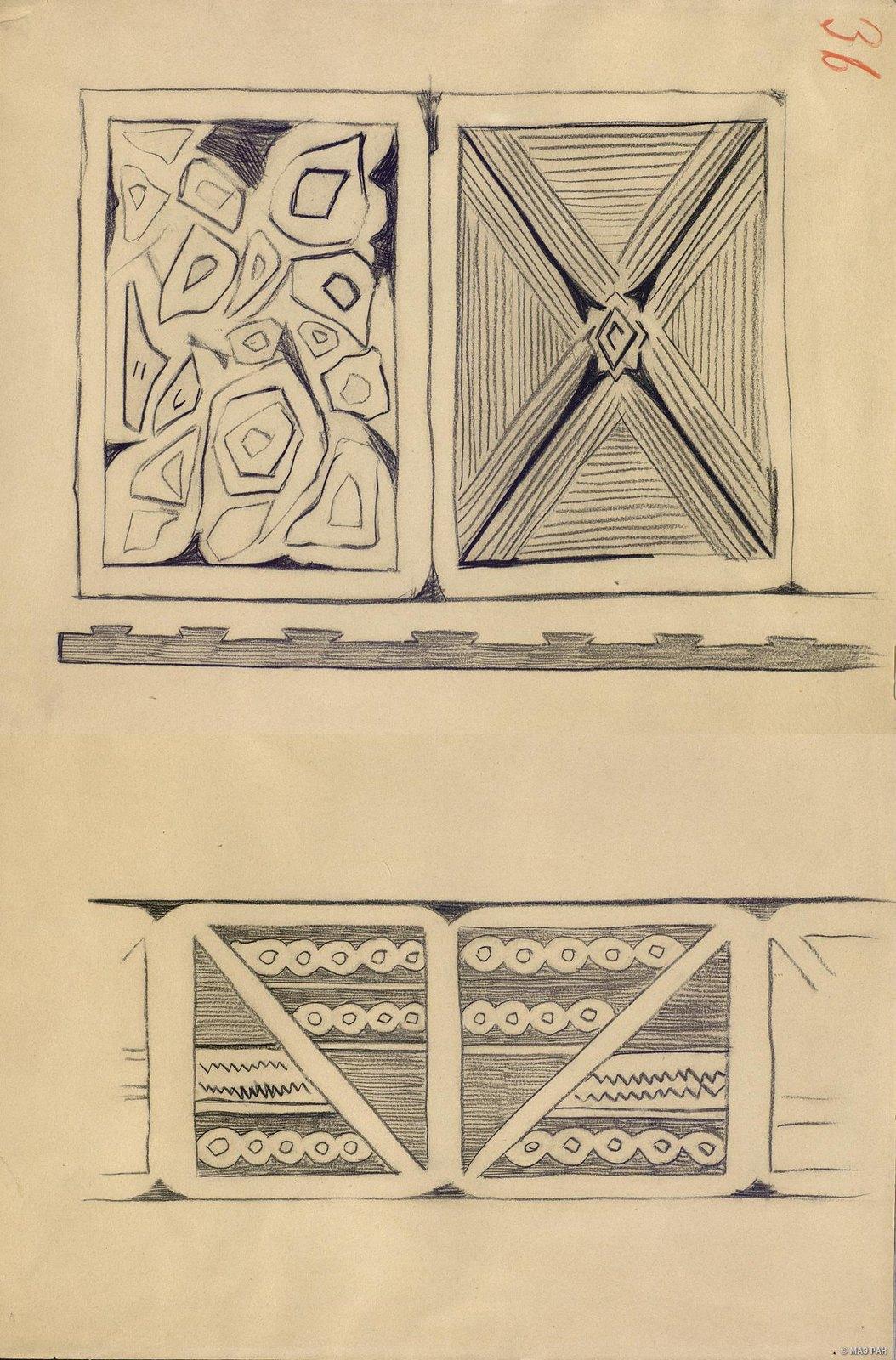 1880-е. Образцы орнаментов папуасов берега Маклая. Папуасы Новой Гвинеи (4)