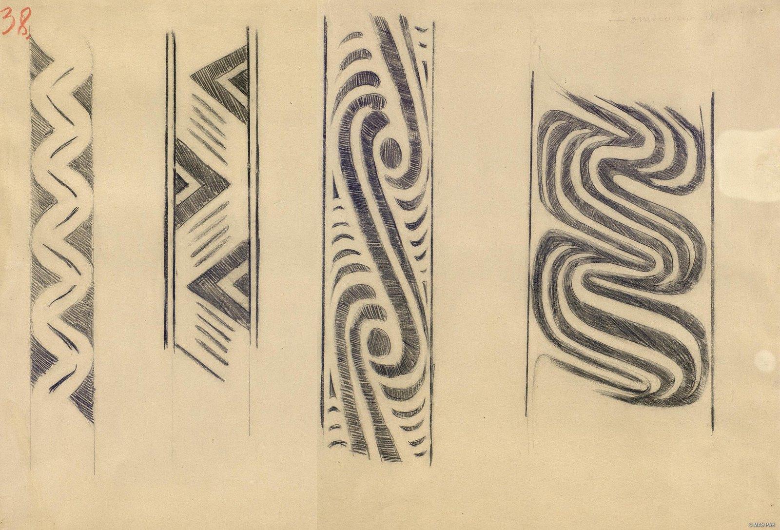 1880-е. Образцы орнаментов папуасов берега Маклая. Папуасы Новой Гвинеи (1)
