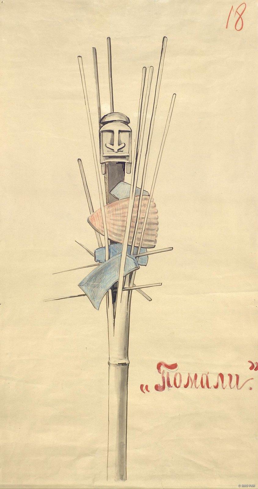 1880-е. Магический предмет «помали».  Папуасы Новой Гвинеи