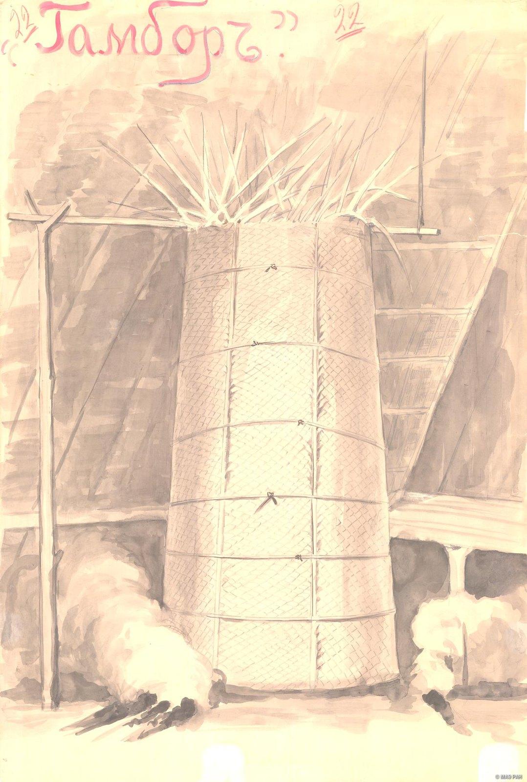 1880-е. Гамбор. Способ хранения тел умерших детей на бер. Маклая