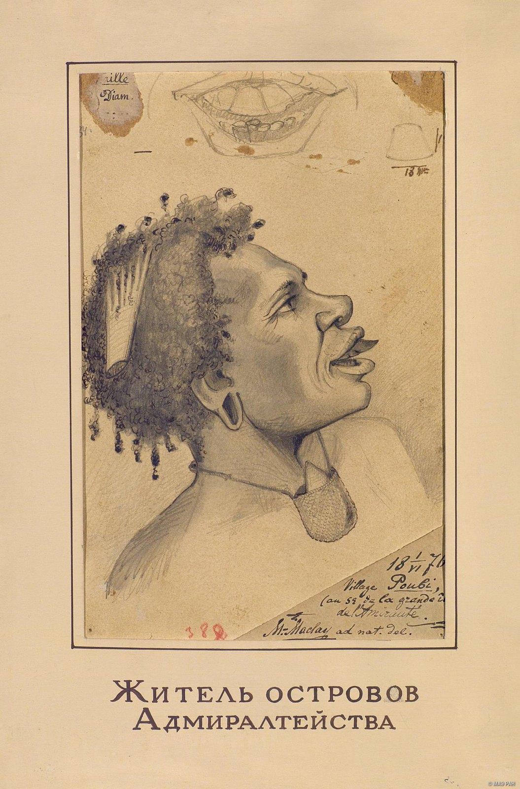 1876. Житель островов Адмиралтейства. 18 июня