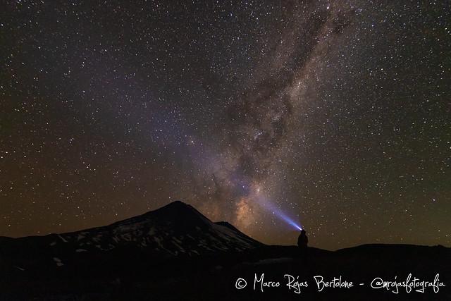 Vía Láctea junto al Llaima