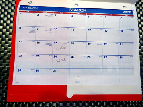 March 2020 Diary