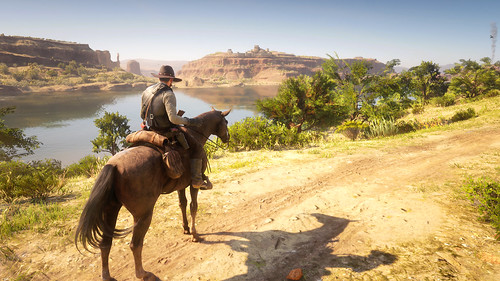 RDR2 - Looking Across San Luis River to Mexico