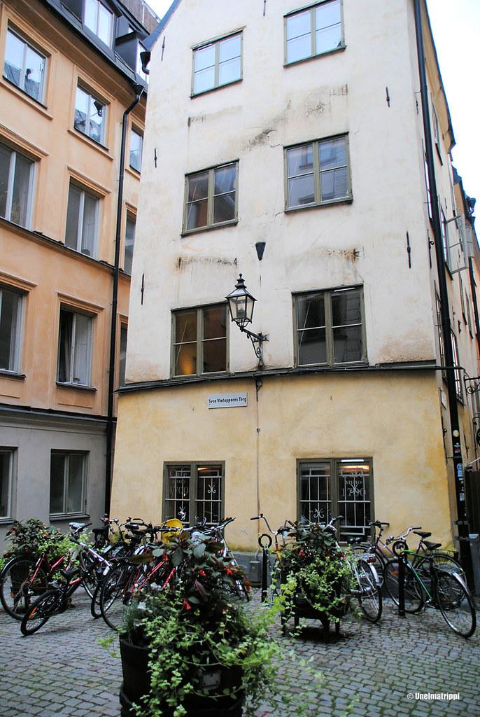 Tukholman vanhankaupungin katunäkymää