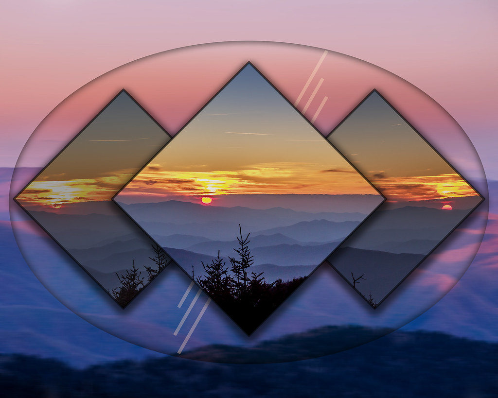 Seeing Triple   Photos inside the diamond shapes are ...