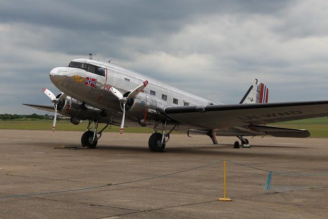 2019-06-05; 0416. Douglas C-53D-DO Skytrooper (1943), cn 11750, 268823, LN-WND, 'Little Egypt'. Daks over Normandy, Duxford.