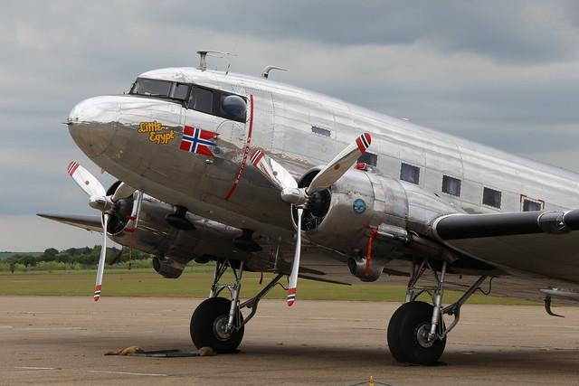 2019-06-05; 0413. Douglas C-53D-DO Skytrooper (1943), cn 11750, 268823, LN-WND, 'Little Egypt'. Daks over Normandy, Duxford.