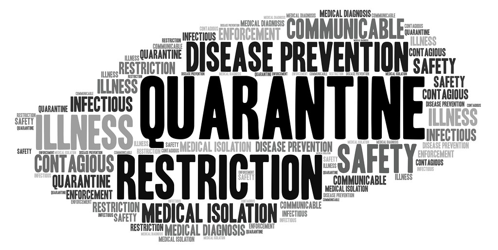 "Quarantine | A word cloud featuring ""Quarantine"". This image… 