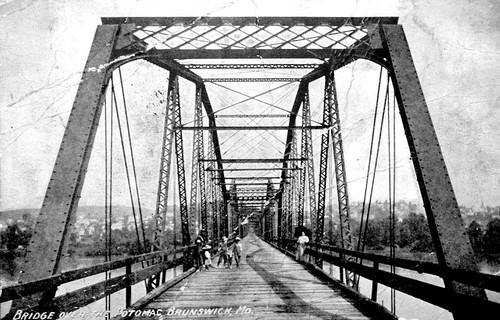 Bridge Over the Potomac at Brunswick, Maryland, Postcard, Circa 1908