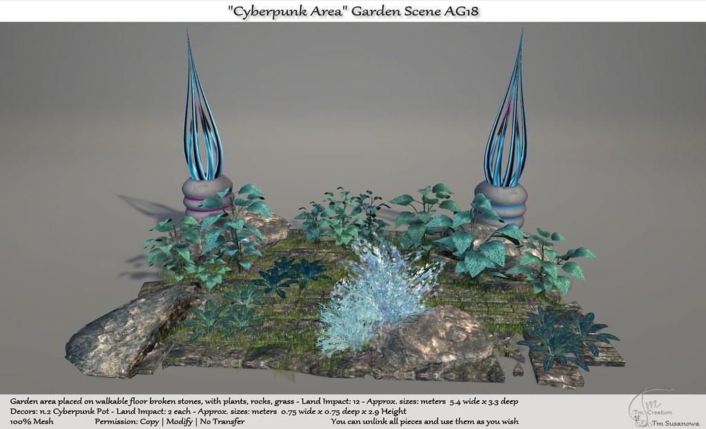 ".:Tm:.Creation ""Cyberpunk Area"" Garden Scene AG18"