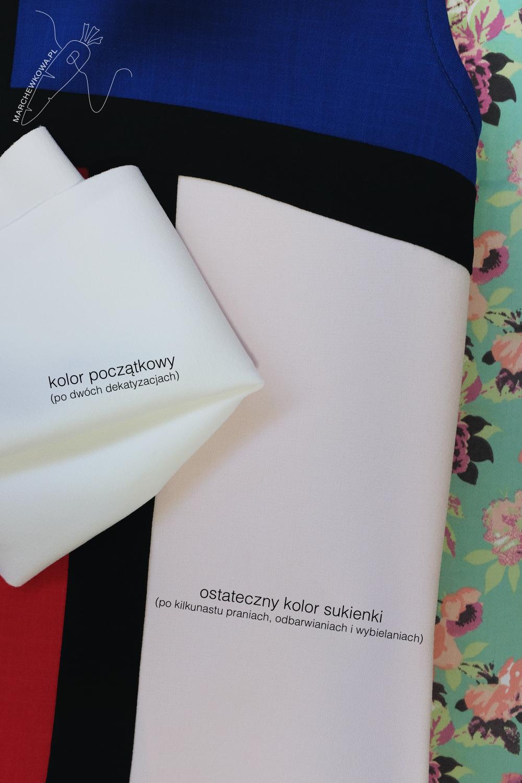 marchewkowa, blog, Wrocław, szycie, rękodzieło, moda retro i vintage, rekonstrukcje, sukienka mondrianowska, kolory podstawowe, lata 60, sewing, handmade, Mondrian dress, Yves Saint Laurent, YSL, 1960s