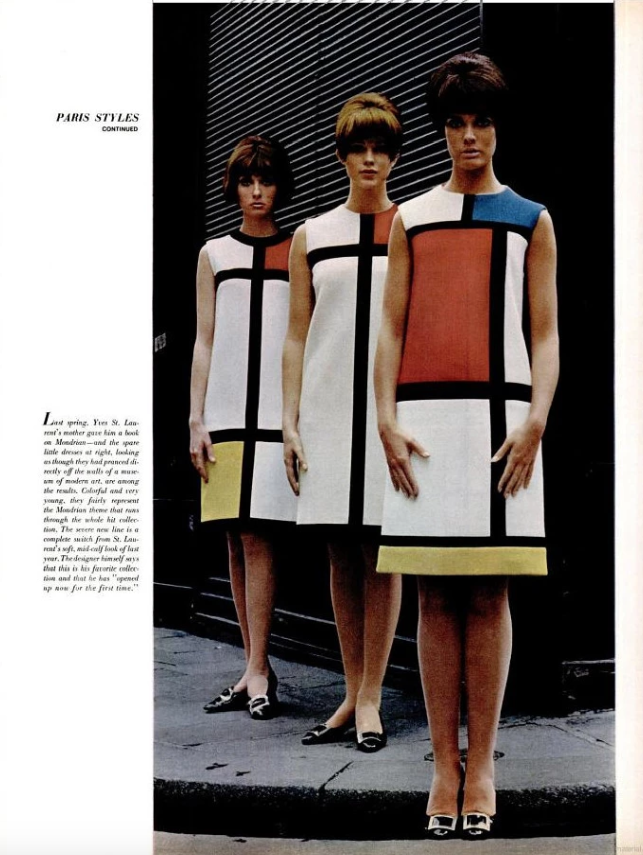 mondrian dress, Yves Saint Laurent, 1960s, fashion, retro