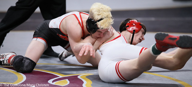 126AA 3rd: Jaxson Rohman (Fairmont-Martin County West) 52-1, Jr. over Cade Jackson (Detroit Lakes) 28-19, Fr. (TF-1.5 5:12 (27-9)). 200229BMC1813