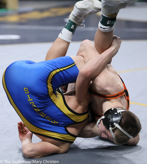 120AA 3rd: Ethan Lebrija (MAHACA) 42-2, So. over Jayden Mclearen (Big Lake) 33-5, Jr. (Fall 3:19). 200229BMC1791