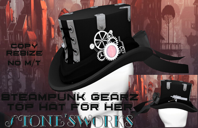 Steampunk Top Hat Hers Stone's Works