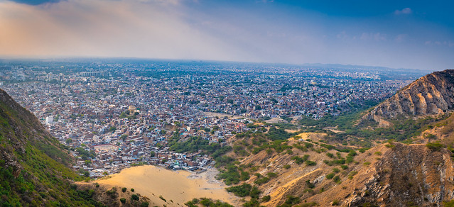 Panaromic view of Jaipur from Nahargarh fort ,Jaipur