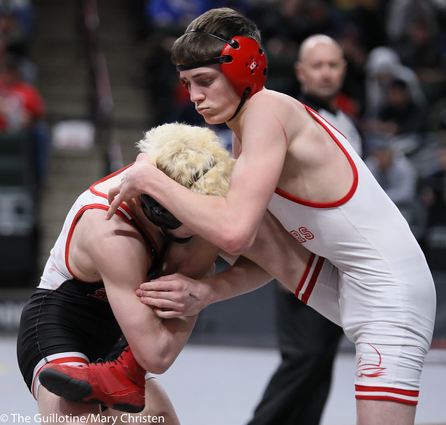 126AA 3rd: Jaxson Rohman (Fairmont-Martin County West) 52-1, Jr. over Cade Jackson (Detroit Lakes) 28-19, Fr. (TF-1.5 5:12 (27-9)). 200229BMC1817