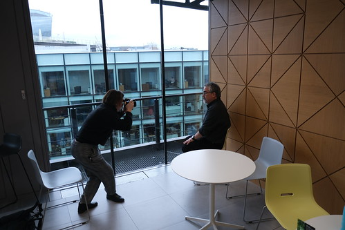 Photoshoot at the Financial Times