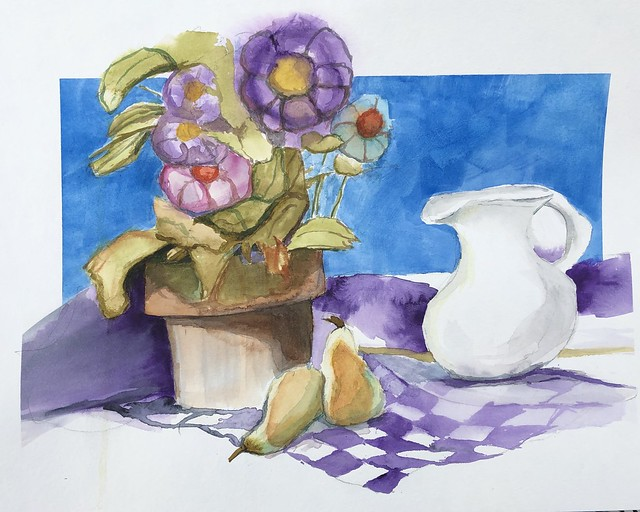 #Watercolor #stilllife started at the #Cbus Cultural Art Center