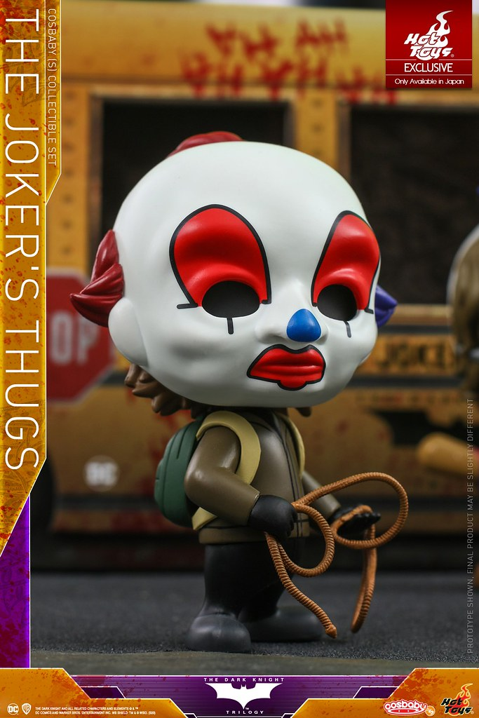 校車包裝盒超讚! Hot Toys - COSB724 -《黑暗騎士》小丑暴徒們 The Dark Knight - The Joker's Thugs Cosbaby (S) Collectible Set【日本限定】