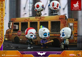 校車包裝盒超讚! Hot Toys - COSB724 -《黑暗騎士》小丑暴徒們 The Dark Knight - The Joker's Thugs Cosbaby (S) Collectible Set【日本限定】