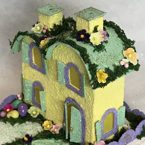 ORIGINAL size Yellow and Green Easter Putz House | by christmasnotebook